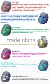 Blue Light Therapy Wavelength Wholesales Seven Colors Light Deesse Led Mask Led Light