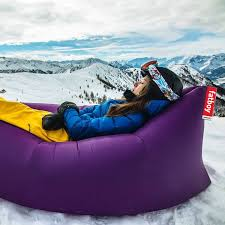 inflatable lounge furniture. Lamzac™ Original Inflatable Lounge Chair, Purple From Fatboy | YLiving Furniture H