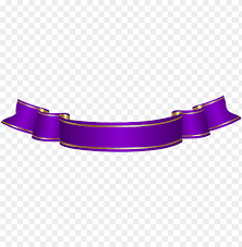 Purple Ribbon Banner Download Urple Banner Transparent Png Clip Art Purple