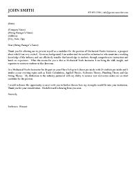 Teacher Resume Cover Letter Mechanical Trades Instructor Vision