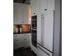 refrigerator handles for custom panels. refrigerator cream cabinets fridge kitchen oven custom panel antiqued appliances integrated handles for panels