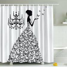 black and white shower curtain peaceful design ideas black and white shower curtains viv rae rowena black and white shower curtain