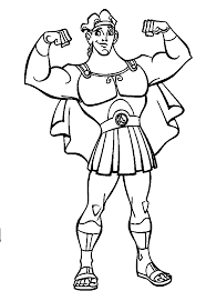 Small Picture Hercules Show Off Muscles Coloring Pages For Kids d50 Printable