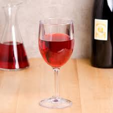 customizable san plastic wine glass