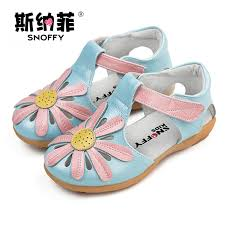 Snoffy <b>Summer Children's</b> Shoes Genuine Leather Flowers <b>Girls</b> ...