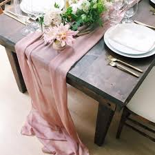 interior our new blush color chiffon makes for beautiful runner event pretty wedding table runners diy