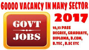 60000 Govt Recruitment Vacancy News 2017 Youtube