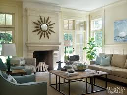 Interior decorator atlanta family room Suzanne Kasler The Exterior Patio Acts As Third Living Room For The Family Who Spend Equal Amounts Of Time Outside Surrounded By The Lush Yard Atlanta Homes Lifestyles Chastain Charm Ahl