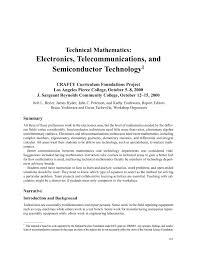 Technical Mathematics Electronics Telecommunications