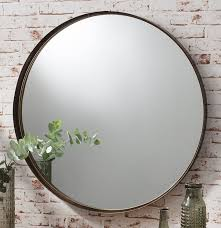 Small Picture Zaragoza Angled Frame Round Feature Wall Modern Mirror 28 71cm