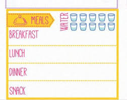 Daily Food Planner Daily Food Log Stickers Printable Daily Menu Meal Plan Etsy