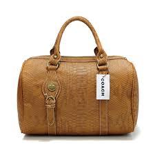 Coach Embossed Medium Brown Luggage Bags DEF