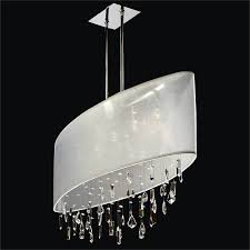 living luxury oval shaped crystal chandelier 8 modern hotel lobby delicate