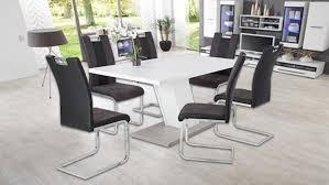 Esstisch Innsbruck Tisch In Weiß Und Betonoptik Mit Säulenfuß