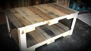 diy reclaimed wood pallet coffee table