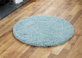 round blue rug fabric