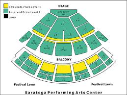 Darien Lake Performing Arts Center Seating Chart Seating Chart Gif Spac Interactive Seating Chart Saratoga