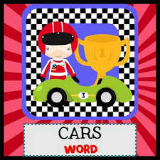 Word Cars Race Cars Newsletter Template Word By The Newsletter Store Tpt