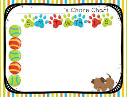 Puppy Dog Themed Rules Chores And Sticker Charts