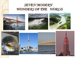 modern wonders of the world good presentation