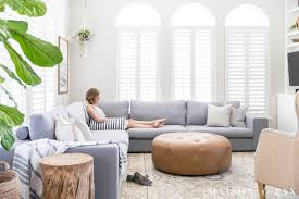 Image Brown Bright Living Room Design With Sectional Maison De Pax Designing Small Living Room With Large Sectional Maison De Pax