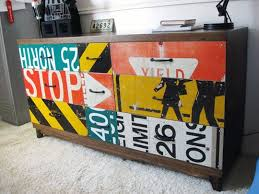 street sign furniture. While We Appreciate Vivid New Paint Jobs And Interesting Stencils, It Is Always Exciting To See Fresh Ideas For Rescuing Refurbishing Old Furniture. Street Sign Furniture