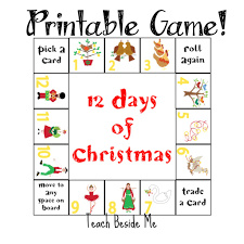 12 Days of Christmas Printable Game - Teach Beside Me