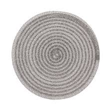 round table mat in woven plastic