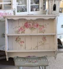10 Shabby Chic Large Vintage Style Roses Shelf