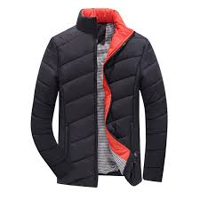 mens thick winter warm stand collar solid color jacket fashion casual coat 5 colors