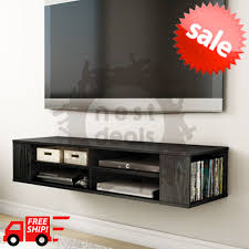 Floating Shelves For Tv Accessories Wall Mount Media Center Shelf Floating Entertainment Console TV 7
