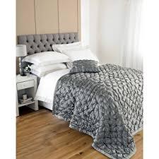Luxury Quilted Bedspreads Bed Throw - Faux Silk & Cotton Bedspread ... & Luxury Quilted Bedspreads Bed Throw - Faux Silk & Cotton Bedspread Grey (  Silver Metallic ) Adamdwight.com