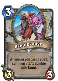 Sand Card Sand Drudge Hearthstone Cards