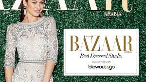 harpers bazaar in partnership with out go create the bazaar best dressed studio at diff dubai s leading mobile hair and makeup