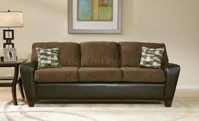 Two Tone Living Room Furniture Tone Brown Contemporary Living Room W Cushioned Seats
