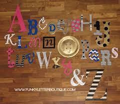 custom painted wooden alphabet wall