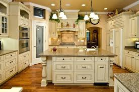 Antique White Cabinets Antique White Kitchen Dark Floors Kitchen