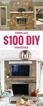 Diy Fireplace Makeover Ideas Diy Concrete Fireplace For Less Than 100 Designer Trapped In A