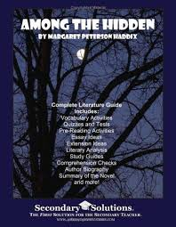 among the hidden literature guide secondary 9780977229505 among the hidden literature guide secondary solutions llc teacher guide