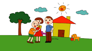 playing cartoon animation cartoon of a kindergarten drawing of a child in a happy