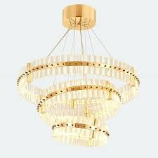 round chandelier light 3 layers large round led lights modern crystal chandelier light new classical creative living room restaurant chandelier light shades