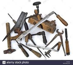 carpenter tools. pile of old carpenter tools