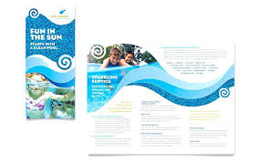House Cleaning Flyer Template Inspiration Ocean Aquarium Fold Brochure Template House Cleaning Services Flyer
