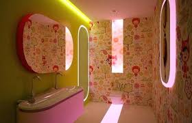 kids bathroom lighting. Kids Bathroom Lighting Medium Size Amusing  Soothing Color With Yellow Wall Fuchsia Pink Neon Vanities Home Kids Bathroom Lighting