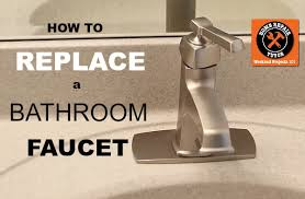 Bathroom Faucet Replacement Cool How To Replace A Bathroom Faucet Home Repair Tutor