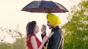 punjabi couple in rain under umbrella wallpaper 13383