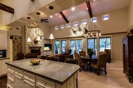 Stone Floors In Kitchen Open Kitchen Floor Plan With Concrete Island Counter Top Custom