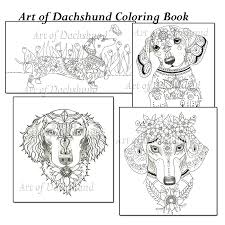 Art Of Dachshund Color Book Facebook