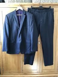 Paul Costelloe Mens Grey Suit Jacket 44 Regular Wool Plain