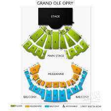 Ryman Seating Chart With Seat Numbers Grand Ole Opry A Seating Guide To Nashvilles Most Famous